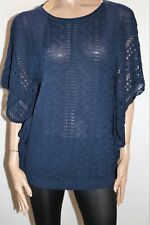 JUST JEANS Brand Dark Blue Cotton Knitwear Kaftan Top Size XS/S BNWT #SD109