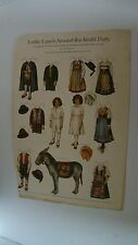 Antique Magazine Cut-Out Paper Dolls
