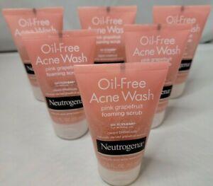 Neutrogena Oil-Free ACNE Wash Pink Grapefruit Foaming Scrub 2oz