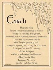 Earth Evocation Parchment Page for Book of Shadows, Altar!