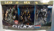 G.I. Joe Sigma 6 TRU Land Sea & Air Set Backblast Barrel Roll Deep Six MISB