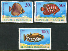 Indonesia 834-836, MNH,  Marine Life Fish. x2772