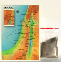 Holy Bible Land ISRAEL MAP POSTCARD + Earth SOIL Sand Religious Jewish Christian