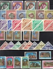 JORDAN **1964 EIGHT COMPLETE IMPERF SETS SPACE, KENNEDY, OLYMPICS, PALESTINE