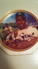 Jackie Robinson Porcelain Collectors Plate. Mlb, Brooklyn Dodgers