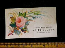 1870s-80s Sartwell, Hough & Ford's Fine Shoes, Rochester, NY Trade Card #2 F24