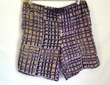 Bay To Bay Men's Adjustable Belted Shorts Size M - Purple Reptile Vintage 1992