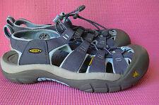 Keen Blue & Gray Newport Canvas Sport Sandal Womens 9 Closed Toe Waterproof Shoe