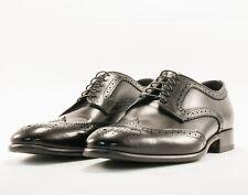 Pal Zileri Black Wing Tip Derby Shoes Size 8.5 US/41.5 UK MSRP $845