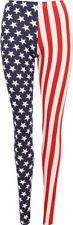 Striped Regular Size Leggings for Women