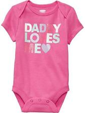 "Old Navy ""Daddy Loves Me"" Pink Bodysuit Infant/Baby Girl Clothes, 6-12 months"