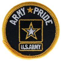 Army Pride 2 Inch Cap Embroidered Patch F1D24D