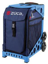 ZUCA Bag MIDNIGHT Insert & Blue Frame w/Flashing Wheels - FREE SEAT CUSHION