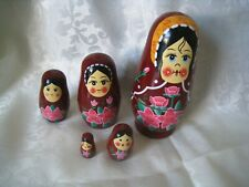 Set Of 5 Traditional Russian Nesting Dolls