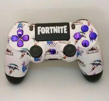 Custom Playstation 4 PS4 V2 Controller 'Fortnite Pattern - Purple'