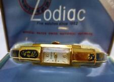 RARE Mid Century 1957 ZODIAC Brand Swiss Diamond Jubilee Ladies Watch and Case