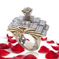 Frauen die weißen Saphir Edelstein Schmuck Schmetterlings Ring Größe 6-10