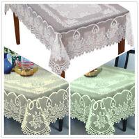 "Vintage Lace Tablecloth Rectangle Table Cover Wedding Banquet Decor 60""x90"""