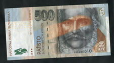 C2000 Bank of Slovakia 500 Koruna Bank Note: F95486010