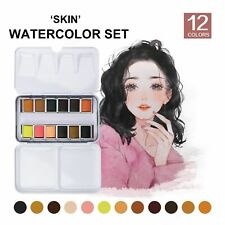 Tin Box Solid Watercolor Water Color Paint Cartoon Portraits Drawing Art supply