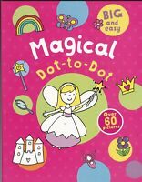 DOT TO DOT BOOK (MAGICAL) COLOURING 60+ WHITE PAGES, A4 BIG & EASY CLEAR PB BOOK