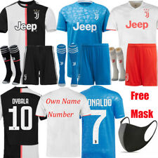 19-20 Kids And Adult Sets Football Kits Soccer Outfits Sport Short Sleeve Jersey