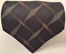 "Giorgio Armani Men's Tie Black Geometric 100% Silk 57"" Italy Brand New"