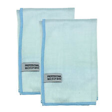 Scourer finger pocket Premium Microfibre Window glass cloth 55x55cm 2 pack