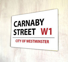 Carnaby Street London Sign A4 Metal Plaque