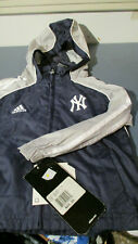 NWT ADIDAS TODDLER ZIP FRONT HOODED WIND JACKET BLUE/GRAY 3T