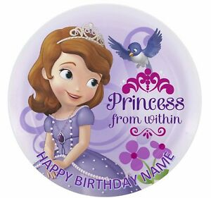 Sofia the First Personalised Edible Cake Decoration Topper 19cm Round Image
