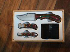 3 Piece Knife Set with wood box