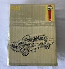 Fiat 131 Mirafiori 1975-1980 Owners Workshop Manual Haynes 310 Hardback 1981