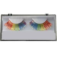 Gay Pride Rainbow Feather False Eyelashes Eye Lashes Lesbian Parade March Party