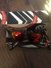 Electric Visual Watts Matte Black Grey Fire Chrome Sunglasses New