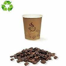 1600 BICCHIERI DI CARTA da 75 ml CHICCO DI CAFFÈ BIODEGRADABILI DA ASPORTO
