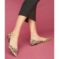 Sam Edelman Rodney D'Orsay Pointy Calf Hair Leopard Flats Shoes 7.5