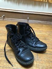 Dr. Martens Doc Women's Leyton Black Ankle-High Leather Boot Size US 8 Eur 39