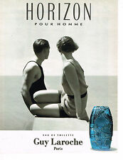 PUBLICITE ADVERTISING 104  1993  GUY LAROCHE  eau de toilette pour homme HORIZON