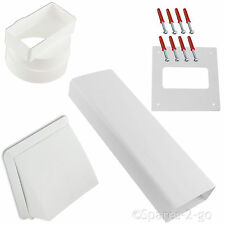 """SIEMENS Wall Vent Kit Vented Tumble Dryer Hose Outlet Pipe White Cowl Duct 4"""""""
