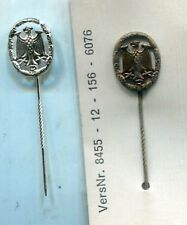 West German Army Reservist Stickpins Lot of 2 Bronze & Silver