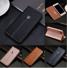 Luxury Magnetic Flip Wallet Leather Case For Samsung Galaxy S7 S8 S9 S10 Plus