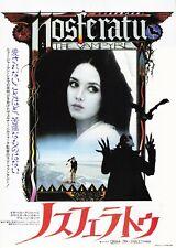 NOSFERATU THE VAMPIRE:Isabelle Adjani- Original Japanese  Mini Poster Chirash
