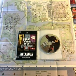 Grand Theft Auto GTA San Andreas Windows PC Game Complete W/ City Guide Book Map