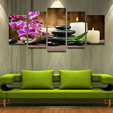 5pcs Join-Together Oil Canvas Painting Modern Art Picture Home Decor CANDLE