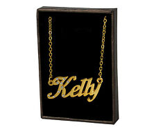 """Name Necklace """"KELLY"""" - 18ct Gold Plated - Engagement Christmas Gifts For Her"""