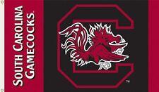 NCAA South Carolina Fighting Gamecocks 2-Sided 3-by-5 Foot Flag, New, Free Shipp
