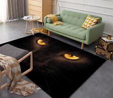 Floor Mat Carpet 3D Black Cat Print Custom Cat Rug Doormat Door