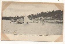 Bath Houses and Bluff ONSET Bay MA Vintage Massachusetts Postcard