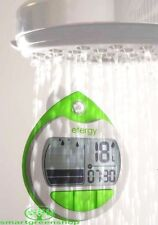 Efergy Showertime Shower Water Meter with LCD Clock EF015 Save Water & Energy